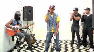 DV x Opulen Studios Presents Juslisen a Micahfonecheck Experience. performing live Just A Year Ago