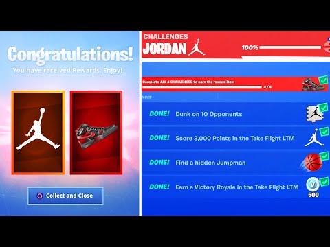 *NEW* Fortnite X Jordan EVENT FREE REWARDS! (Downtown Drop Challenges)