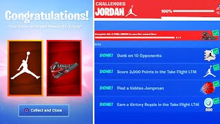 Fortnite X Jordan EVENT GRATUIT REWARDS! (Downtown Drop Challenges)
