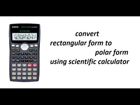 convert rectangular form to polar form using scientific calculator ...