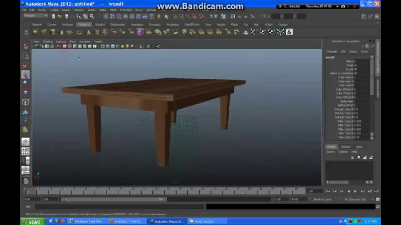 Modeling A Simple Table Maya 2012 YouTube