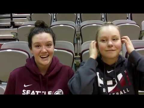 SEATTLE PACIFIC WOMEN'S BASKETBALL: Lindsay Lee and Riley Evans (Feb 10, 2018)