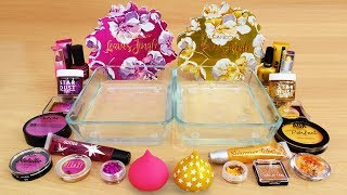 rose-vs-gold-mixing-makeup-eyeshadow-into-slime-special-series-112-satisfying-slime-video