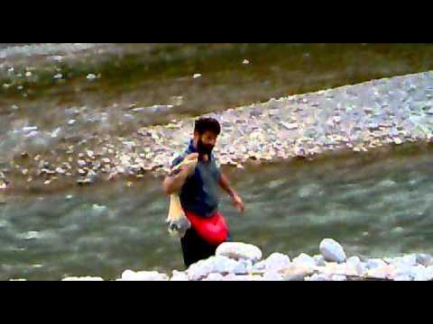 Fish hunting bherkund Mansehra beautiful Hazara Pakistan.