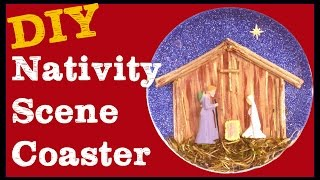 Nativity Scene Resin Coaster Craft Klatch Christmas Series