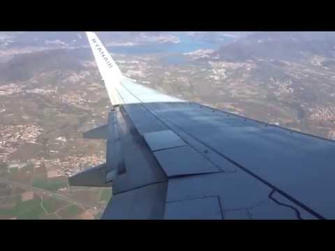 Welcome To Bergamo! Sunny Approach, Landing & Taxi On Ryanair B737-800