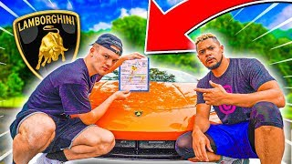 1v1 vs. TRASH TALKER for his LAMBORGHINI !! IRL BASKETBALL