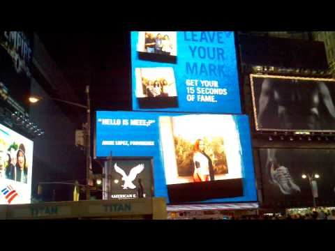 We were on the screens in timesquare,ny