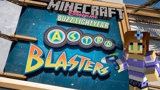 Minecraft Disneyland! Buzz Lightyear Astro Blasters!