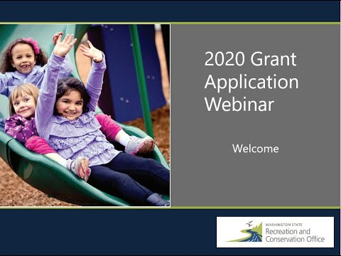 Recreation And Conservation Grants 2020 Applicant Webinar