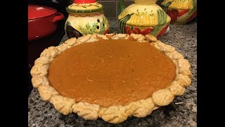 SWEET POTATO PIE, the Best holiday homemade pie without machine
