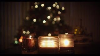 Christmas Tree And Candles Stock Video