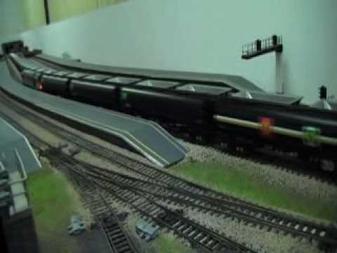 Model train running new  Class 60 and tankers  And class 47 Mail train 27/7/2010