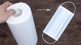 DIY Face Mask | How to make a Face Mask DIY Tutorial | Face Mask by Paper Towels