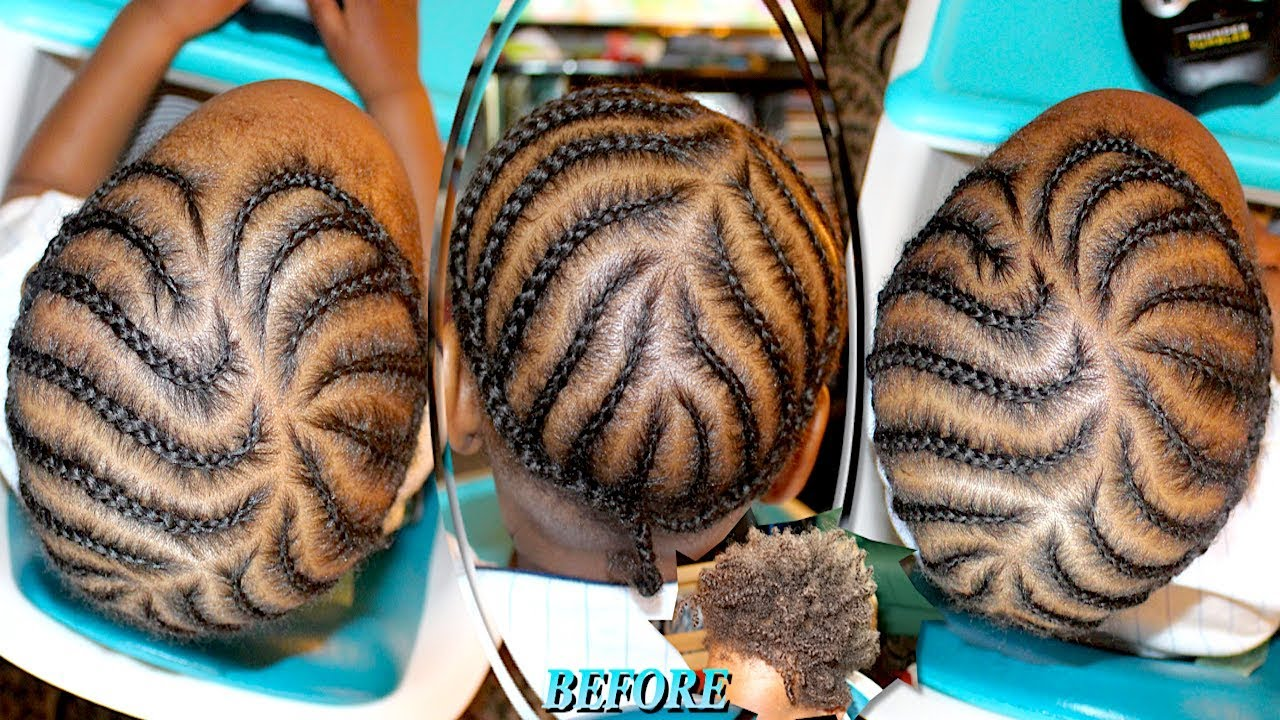 Protective Style Quick Creative Hairstyle Babies Kids Boy