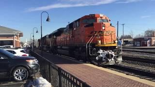 BNSF Mendota sub action in Mendota, IL 03/12/19