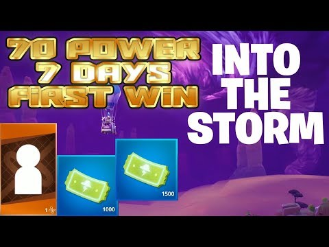 Fortnite 35  Into The Storm 70 power 7 days  First Win  Legendary Rewards  Loads of Tickets