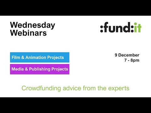 Fund it Wednesday Webinar - Film / Publishing