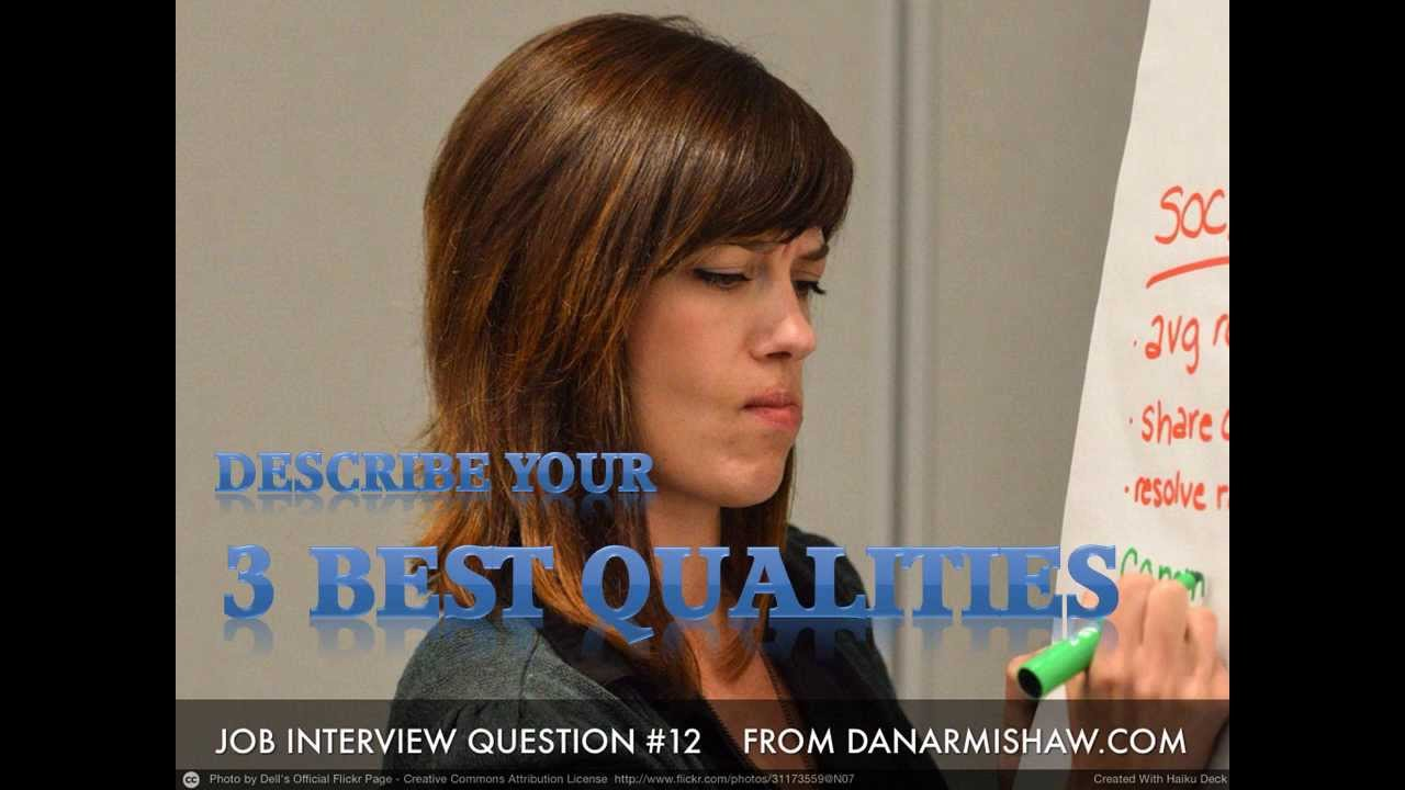 what are your best qualities interview question what are your 3 best qualities interview question