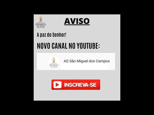 Novo Canal no Youtube - Link na Descrição