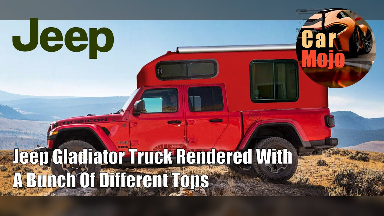 Jeep Gladiator Truck Rendered With A Bunch Of Different ...