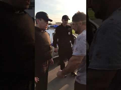 Кавказец ударил полицию