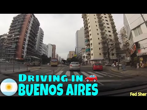 Driving in Buenos Aires (from Vicente López to Villa Urquiza)