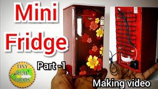 How to Make DIY Miniature Refrigerator/Mini Fridge/Foam Sheet Fridge/Tiny Real Foods EP-41 Part-1
