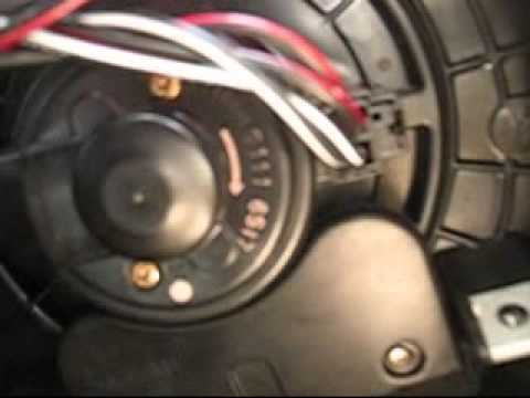 How To Remove Install Heater Blower Motor Fan On 1998 1999