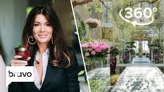 360 VR Exclusive: Lisa Vanderpump Gives Lala a Behind the Scenes Tour | Villa Rosa, Part 1 | Bravo