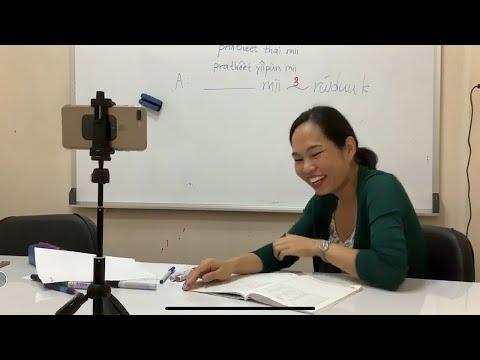 TLSタイ語オンライン講座レッスン風景 Thai language online lesson in Bangkok.