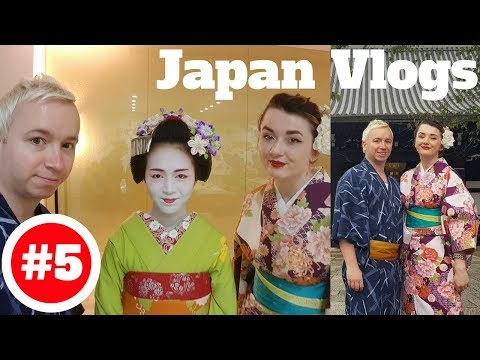 Japan Holiday 2017 Vlog #5 - Kyoto, Maiko Theater, Renting Kimono, Geisha Spotting in Gion District!