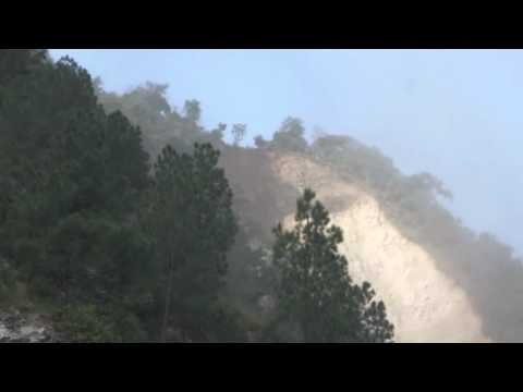 Uttaranchal India - landslide caught on video