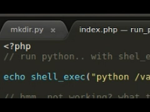 PHP Tutorial : Run Python From PHP In Ubuntu