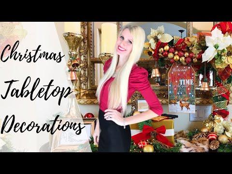 CHRISTMAS TABLETOP DECORATIONS | DIY ORNAMENT GARLAND