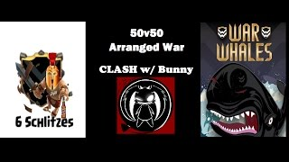 Clash of Clans: 50v50 AW || 6 Schlitzes vs War Whales last 20 mins of the war