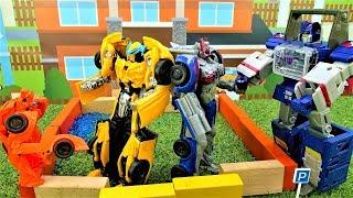 Трансформеры Автоботы в ловушке Десептиконов! – Игры для мальчиков.