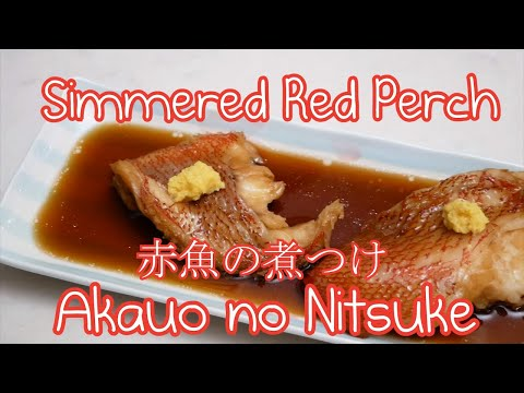 Simmered Red Perch   Akauo Nitsuke Japanese Style 🐟 (2018)