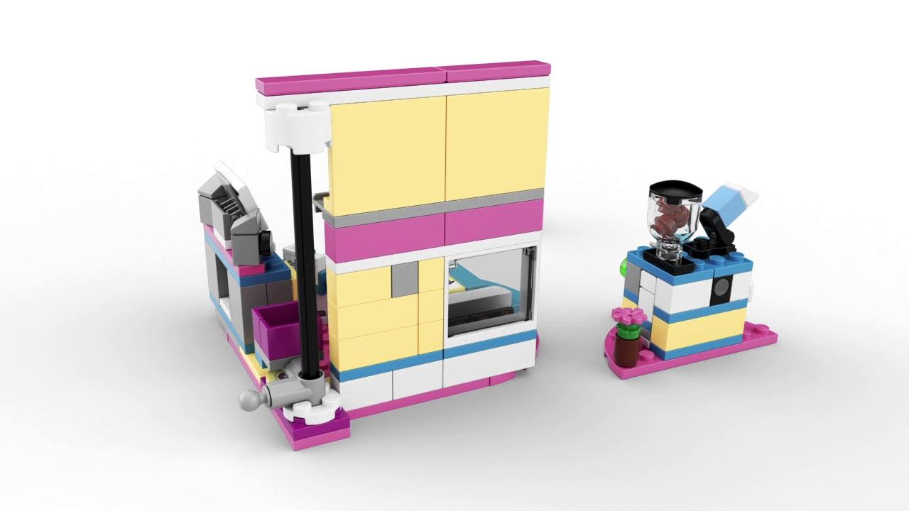 Lego Friends Olivias Deluxe Bedroom 41329 Youtube