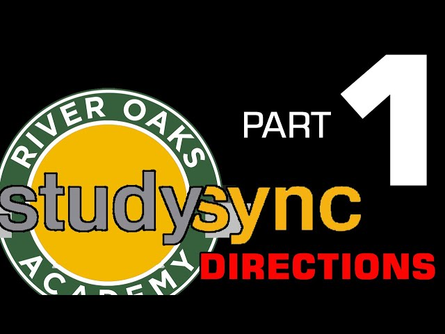 Studysync Directions Part 1 - Login