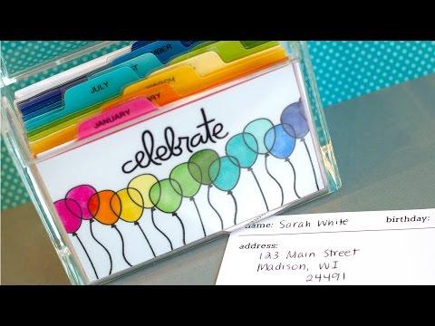 Birthday Index Card Box