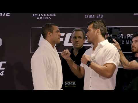 Vitor Belfort Vs. Lyoto Machida UFC 224 Media Day Staredown - MMA Fighting