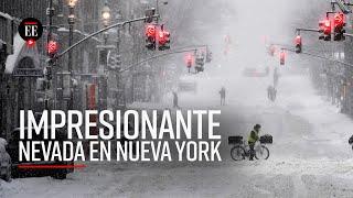 Histórica nevada en Nueva York: sería la octava más fuerte en la historia de la ciudad