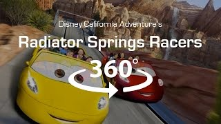 4K 360 Virtual Reality Roller Coaster Radiator Springs Racers   VR 360 Video POV