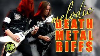 The 7 Greatest Melodic Death Metal Guitar Riffs Of All Time!