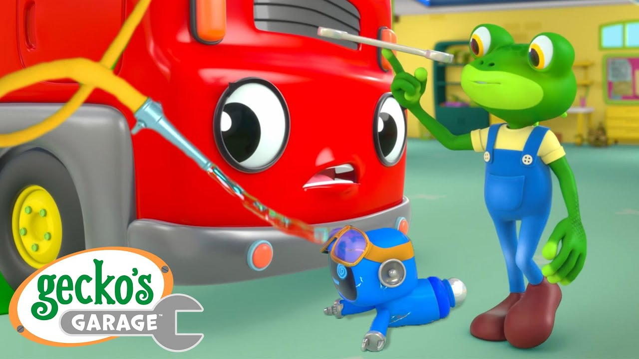 Fire Truck Water Blaster|Gecko's Garage|Funny Cartoon For Kids|Learning Videos For Toddlers