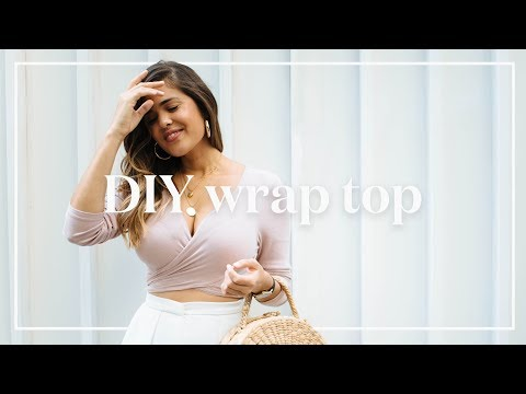 DIY Long Sleeve Wrap Top (No Sewing Required!)