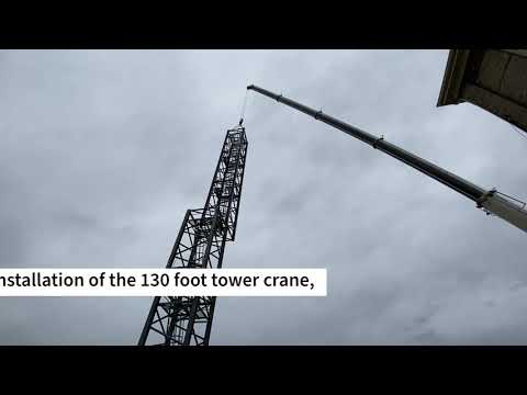 Construction Milestone: Crane Installation