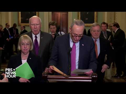 WATCH: Senate Democrat leaders hold press conference after party policy luncheon