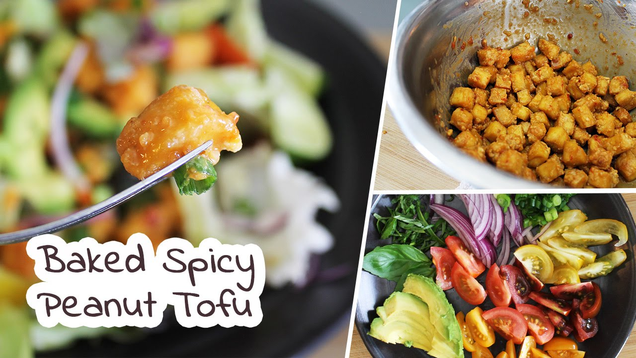 Baked Spicy Peanut Tofu | Vegan Recipe by Mary's Test Kitchen ...